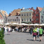 A_market_place_in_the_historical_old_town_of_Tallinn_Estonia