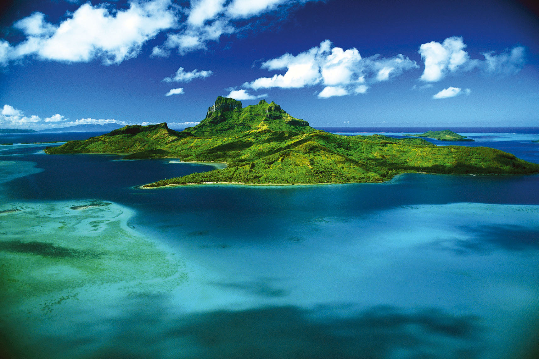 Aerial View of Bora Bora